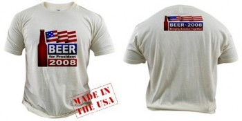 beer for president t shirt