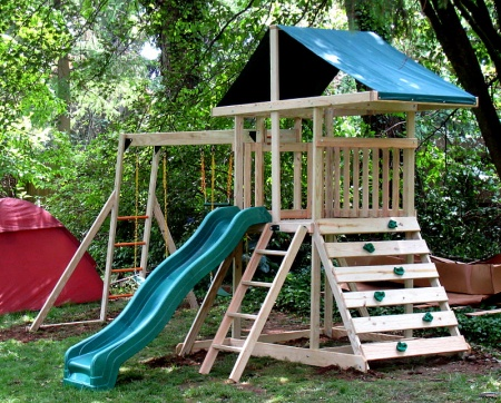 wooden playset